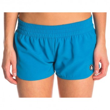 "Volcom Women's Simply Solid 2"" Boardshorts - Bright Blue"