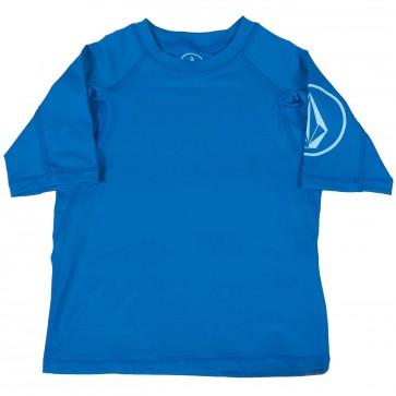 Volcom Toddler Solid Short Sleeve Rash Guard - Baja Indigo