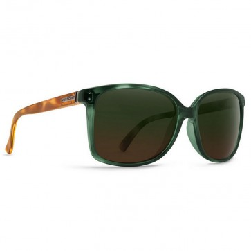 Von Zipper Women's Castaway Sunglasses - Hunter Crystal Tortoise/Green