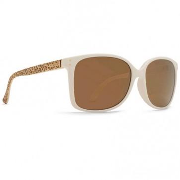 Von Zipper Women's Castaway Party Animal Sunglasses - White/Brown