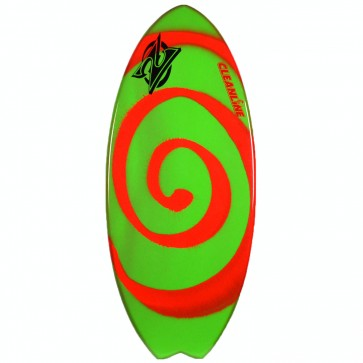 Zap Skimboards Fish Skimboard - Green/Red Spiral
