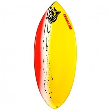 Zap Skimboards Wedge Skimboard - Yellow/White/Red