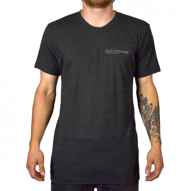 Cleanline New Rock T Shirt Black Cleanline Surf