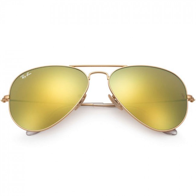 ray ban aviator matte gold