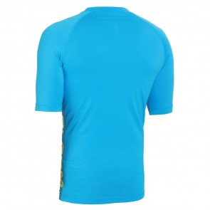 Volcom Solid Short Sleeve Rash Guard - Cosmic Blue