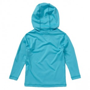 Roxy Toddler Sun Kissed Long Sleeve Hoodie Rash Guard - Turquoise