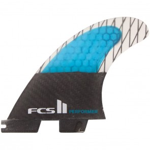 FCS II Fins - Performer PC Carbon Large - Blue/Black Hex