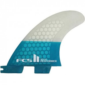 FCS II Fins - Performer PC Small - Blue/Clear Hex