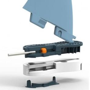 FCS II Fins Performer PC Medium - Blue/Clear Hex