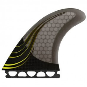 Kinetik Racing Fins - Luke Egan Carbon Ultra Future - Black/Yellow Pin Lines