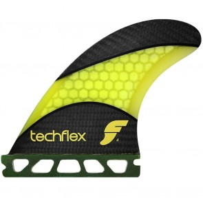 Future Fins - F4 Techflex - Neon Yellow Hex