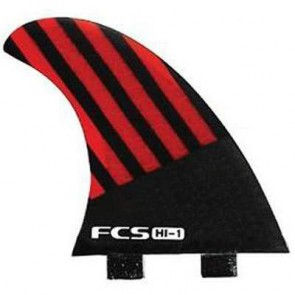 FCS Fins - HI1 PC - Red/Black Hex