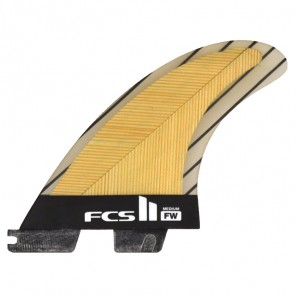 FCS II Fins FW PC Medium Tri-Quad - Bamboo/Carbon