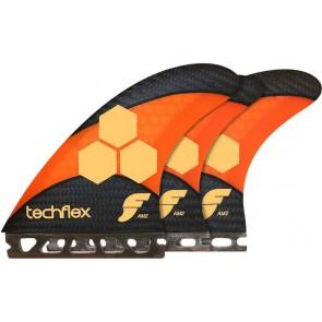 Future Fins - AM2 Techflex Tri Quad - Orange Hex
