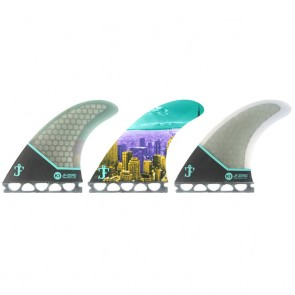 Kinetik Racing Fins - Jack Freestone Ultra Core Future - Black/Grey