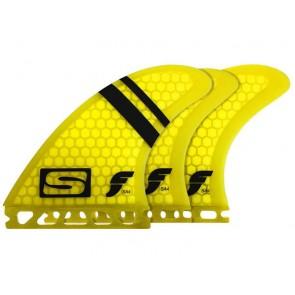 Futures Fins - SA4 Tri Quad - Yellow Hex