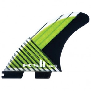 FCS II Fins - Carver PC Carbon Medium - Lime/Black Hex