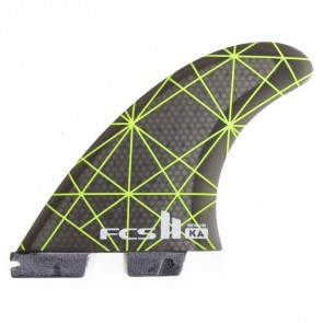 FCS II Fins KA PC Medium - Neon Green/Smoke