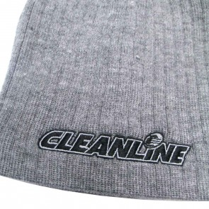 Cleanline Corp Logo Short Cable Beanie - Grey/Black