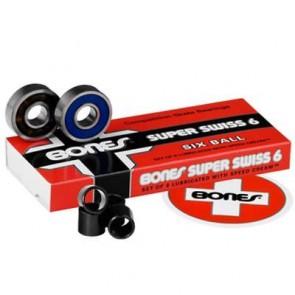 Bones Super Swiss 6 Skateboard Bearings