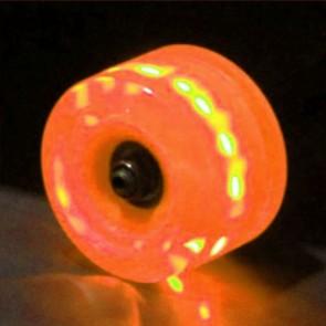 Sunset Skateboards - 65mm Flare Longboard LED Wheels - Orange