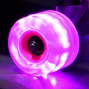 Sunset Skateboards - 65mm Flare Longboard LED Wheels - Purple