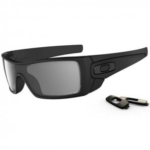 Oakley Batwolf Polarized Sunglasses - Matte Black/Grey