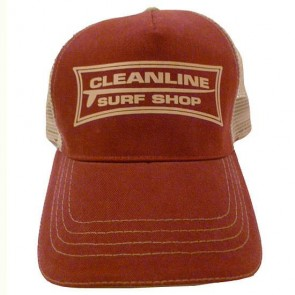 Cleanline Longboard Mesh Hat - Maroon/Khaki