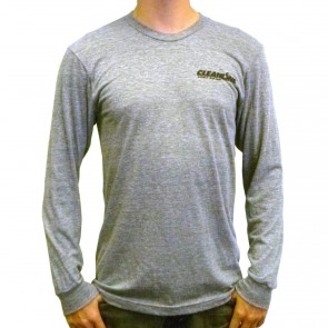 Cleanline Corp Logo/Big Rock Long Sleeve T-Shirt - Heather Grey/Black