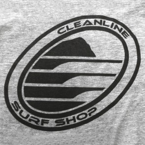 Cleanline Corp Logo/Big Rock Long Sleeve T-Shirt - Heather Grey/Black