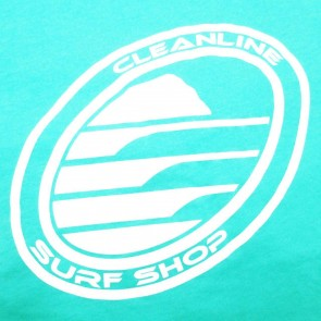 Cleanline Women's Corp Logo/Big Rock Top - Mint