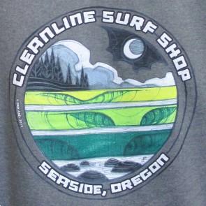 Cleanline Moon Lines Seaside Hoodie - Gunmetal