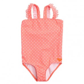 Roxy Youth Ruffle Swimsuit - Glow Pink