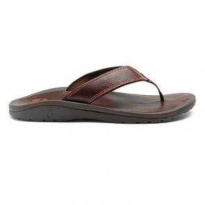 Olukai 'Ohana Leather Sandals - Dark Java