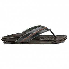 Olukai Mea Ola Sandals - Charcoal/Dark Java