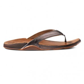 Olukai Women's Kumu Sandals - Pewter/Rattan