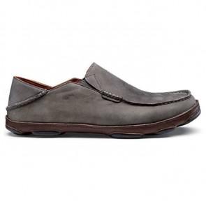 Olukai Moloa Shoes - Storm Grey/Dark Wood