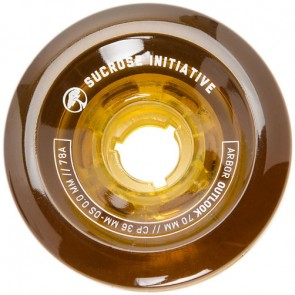 Arbor 70mm Outlook Longboard Wheels - Amber