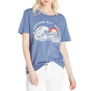 Billabong Women's Nothing But Waves T-Shirt - Blue Jay