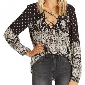Billabong Women's Just A Dream Top - Off Black