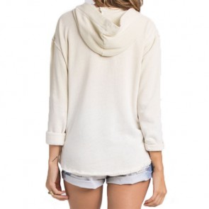 Billabong Women's See The Light Pullover Hoodie - White Cap