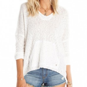 Billabong Women's Beach Bliss Hooded Sweater - White Cap