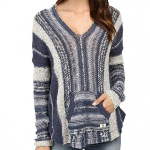 Billabong Women's Seaside Ryder Stripe Sweater - Blue Tide