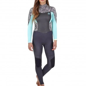 Billabong Women's Synergy 3/2 Flatlock Back Zip Wetsuit - Geo Diamond