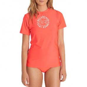 Billabong Women's Core Short Sleeve Rash Guard - Horizon