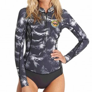 Billabong Women's Salty Dayz 2mm Long Sleeve Spring Suit - Black Sands