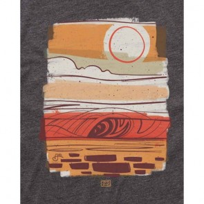 Billabong Erik Abel Wavelines T-Shirt - Black Heather