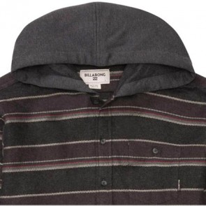 Billabong Highlands Hooded Flannel - Black Heather