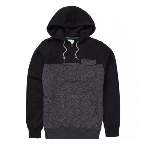 Billabong Balance Half Zip Pullover Hoodie - Black Heather