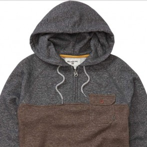 Billabong Balance Half Zip Pullover Hoodie - Earth Heather